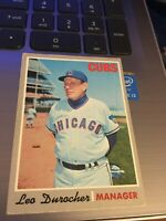 1970 TOPPS LEO DUROCHER Chicago Cubs Manager 1970 Topps Vintage Trading Card 291