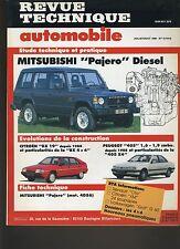 (9B)REVUE TECHNIQUE AUTOMOBILE MITSUBISHI PAJERO DIESEL / BX 19 / PEUGEOT 405