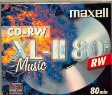 MAXELL XL-II 80 marca Digital Audio 80min CD-RW IN JEWEL CASE