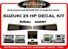 1987 SUZUKI 25 HP OUTBOARD DECALS , graphics reproductions