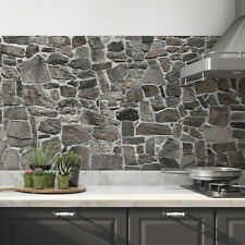 Küchenrückwand selbstklebend Grau Fliesenspiegel Folie - ALLE UNTERGRÜNDE