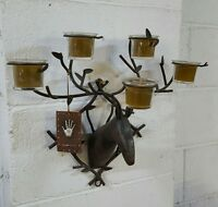 Deer Wall Votive 5 Candle Wall Decor