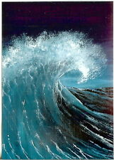 ACEO GLOSSY PRINT Collectible Night Seascape Huge Waves Ocean Art Print HYMES
