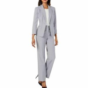 LE SUIT NEW Women's Petite Single Button Pants Suit Two-Piece TEDO