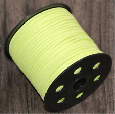 10yd Green 3mm DIY Bracelet Jewelry Making Cord Suede Leather String Thread