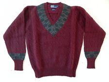 Polo by Ralph Lauren / 100% Wool / V-Neck Knit Sweater / Size: L / Deadstock