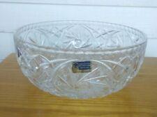Vintage German Democratic Republic Daisy Floral Crystal Bowl