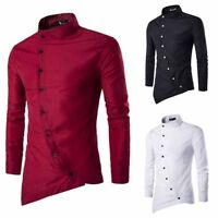 Mens Top Fashion Casual Long Sleeve Luxury Shirts Slim Fit Stylish Dress Shirt