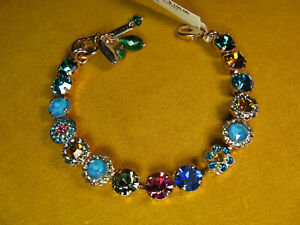 MARIANA BRACELET SWAROVSKI CRYSTALS FLOWER BLUE GREEN MULTI COLOR Rose Gold
