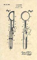 Official Ice Cream Scoop US Patent Art Print- Vintage 1930 Dessert Antique -138