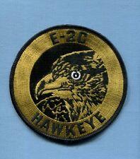 "US NAVY GRUMMAN E-2C E-2 HAWKEYE VAW CARRIER SQUADRON 4"" Gold Hat Jacket Patch"