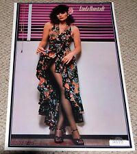LINDA RONSTADT Flower Dress Poster 1977 Dargis Simple Dreams Hot Babe Sexy Girl