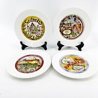 """Vintage Set of Four Restoration Hardware Assorted Classic Cheese Plates 7 1/2"""""""