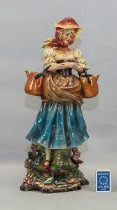 Gräfenthal Wasserträgerin Große Porzellanfigur 42 cm Thüringen Porzellan Figur