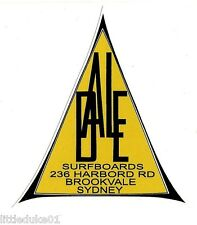 """DALE SURFBOARDS SYDNEY"" RETRO Sticker Decal 1960s LONGBOARD SURFING MAL SURF"
