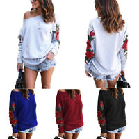 Womens Long Sleeve Hoodie Sweatshirt Jumper Hooded Pullover Tops Blouse Coat we