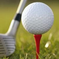 5-100Pcs Multi Color Golf Tools 83mm Plastic Golf Tees Rubber Cushion Holder