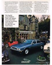 1988 Jaguar XJ6 Blue 4-door Sedan Vtg Print Ad