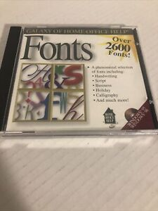 Galaxy Of Home Office Help Fonts Over 2600 PC CD ROM