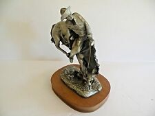 """""""THE OUTLAW"""" BY FREDERIC REMINGTON' 78 NAT'L COWBOY HALL OF FAME BRISTOL PEWTER"""