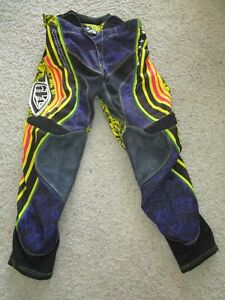TROY LEE DESIGNS Cycling Racing Pants NEW Padding Ventilation Poly Leather Sz 32