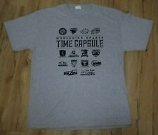 Worcester Bravehearts Worcester Time Capsule Sports Logo T-Shirt men's size-Larg