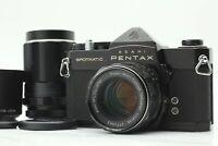 [EXC+++++] Pentax Spotmatic SP Black Takumar 55mm f/1.8 135mm f/3.5 M42