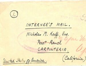 SOUTH AFRICA WW2 INTERNEE Bloemfontein *Andalusia Internment Camp* USA 1943 GD89
