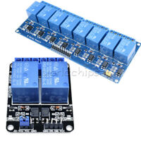 2/8 Channel Relay Module 5V With Optocoupler For Arduino DSP ARM PIC AVR