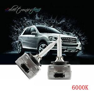 2 X White 35W 6000K 12V Car Auto D1S Front Light Headlight HID Xenon Bulb New