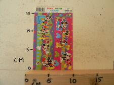 STICKER,DECAL SHEET WITH STICKERS INTRODUCT DISNEY MICKEY MOUSE 3