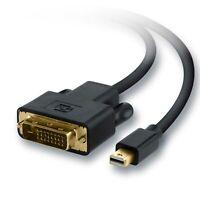 Mini DisplayPort Stecker auf DVI Stecker Adapter PC Mac FullHD 1080p HDCP 1,0m