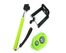 New Green Extendable Wireless Bluetooth Selfie Stick Monopod for Iphones Android