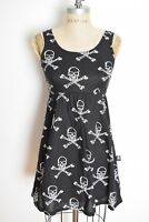 c75e018baf Tripp NYC Hot Topic dress black SKULL print goth babydoll mini dress  clothing XS