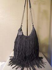 New Monserat De Lucca Leather Bochoa Fringe Hobo Shoulder, Crossbody, Handbag