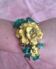 Enamel Floral Bracelet Vintage