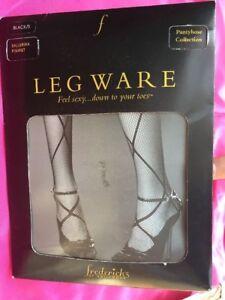 New Frederick's of Hollywood Leg Ware Ballerina Fishnet black Sz S panty hose
