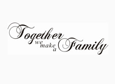 Together we make a family Living Room Wall Stickers 78cm x 24cm uk 32sh