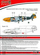 Owl Decals 1/32 MESSERSCHMITT Bf-109E-3 Hptm. Herbert Ihlefeld