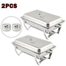 9L FOOD PANS FUEL WITH PACK OF 2 STAINLESS STEEL CHAFING DISH SETS SPOONS