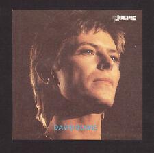 David Bowie vintage Joepie Sticker Card