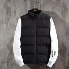 Winter Men's Sleeveless Jacket Cotton Padded Vest Stand Collar Waistcoat Quilted