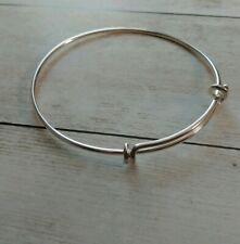 Adjustable Bangle Bracelet Wire Bangle Bracelet Silver Bangle Adjustable Blank