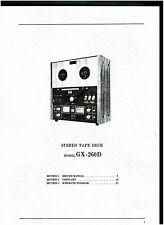 Akai Service Manual für GX- 260 D englisch komplett  Kopie