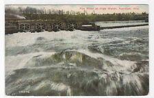 Fox River at High Water Appleton Wisconsin 1911 postcard