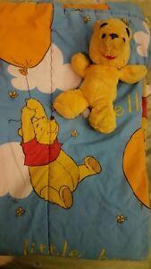 Vintage Disney Winnie The Pooh Manta para Bebé Cuna Dudú & Pooh Oso ! Global