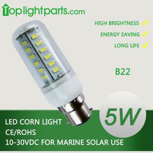 (10pcs) x  B22 Warm / Cool White 10-30VDC LED 12V 24V allOK Light Bulb Corn Lamp