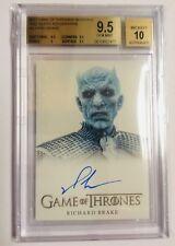 Game of thrones Season 6 Night King-Richard Brake 9.50 BGS Gem Mint autograph!