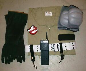 Complete Ghostbusters Halloween Costume Full Khaki Flight Suit Cosplay Halloween