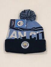 Manchester City FC Pom Knit Hat English Premier League Authentic Man City Cap